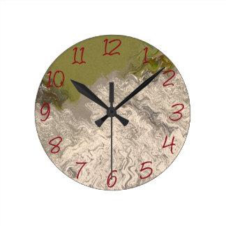 Grões de areia relógio redondo