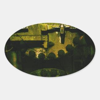 Grunge Adesivo Oval