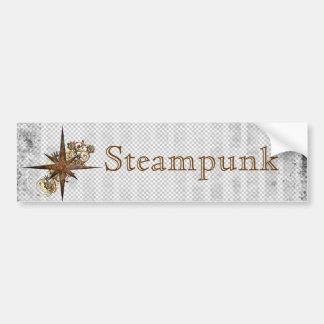 Grunge da estrela do compasso de Steampunk Adesivo Para Carro