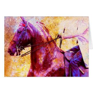 Grunge de Saddleseat Cartao