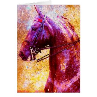 Grunge de Saddleseat Cartão Comemorativo