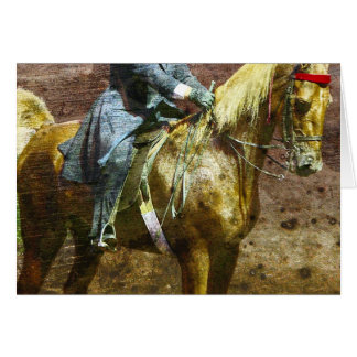 Grunge de Saddleseat do Palomino Cartões