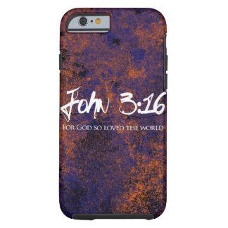 Grunge do caso do iPhone 6 do 3:16 de John Capa Tough Para iPhone 6