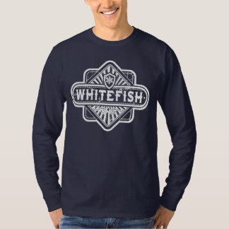 Grunge do diamante do peixe branco t-shirts