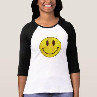Grunge do smiley camiseta