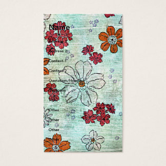 Grunge floral do vintage cartão de visitas