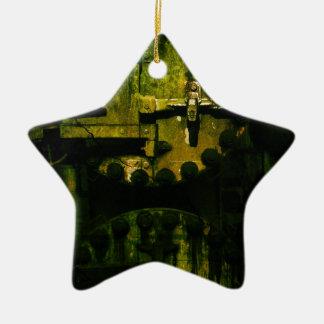 Grunge Ornamento De Cerâmica Estrela
