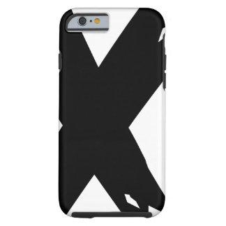 Grunge preto X Capa Tough Para iPhone 6