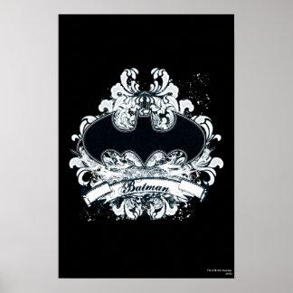 Grunge urbano do vintage de Batman Poster