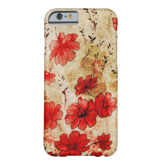 Grunge vermelho floral capa barely there para iPhone 6