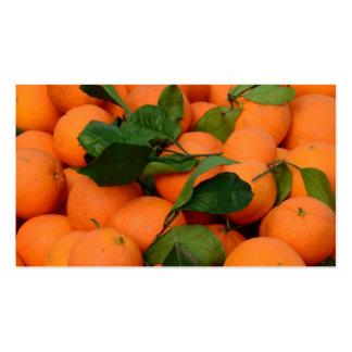 Grupo bonito das laranjas cartão de visita
