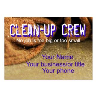 Grupo de limpeza modelos cartões de visitas