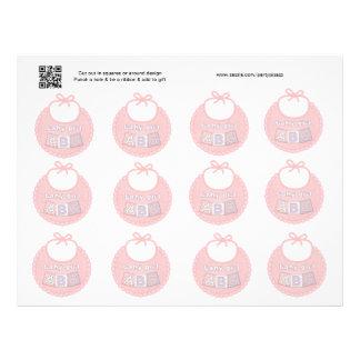 Grupo de Tag cor-de-rosa do presente ou do favor d Flyer 21.59 X 27.94cm