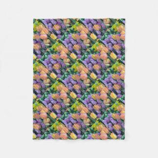 Grupo de tulipas coloridas cobertor de lã