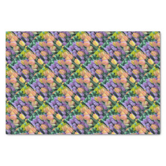 Grupo de tulipas coloridas papel de seda