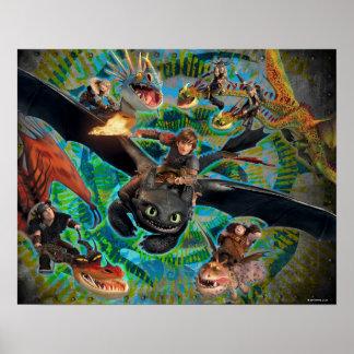 Grupo dos cavaleiros do dragão impressão