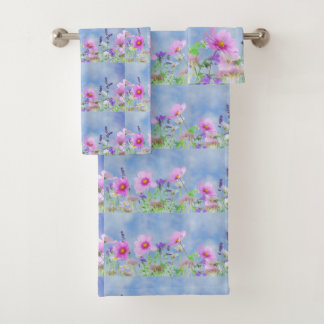 Grupo na moda de toalha da flor selvagem das