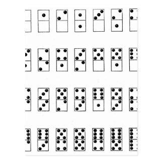 grupo retro do vintage de dominós cartão postal