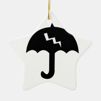 guarda-chuva e iluminação ornamento de cerâmica