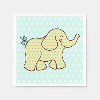 Guardanapo amarelos do elefante do Aqua