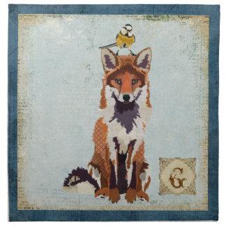 Guardanapo ambarino do Fox da coruja