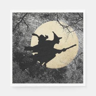 Guardanapo assombrados da bruxa do Dia das Bruxas