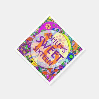 Guardanapo coloridos da festa de aniversário do