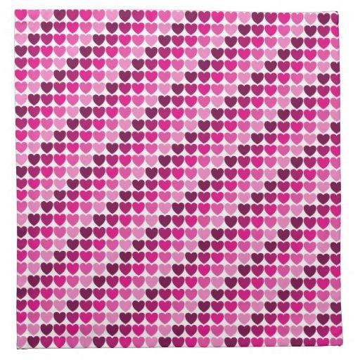 Guardanapo cor-de-rosa dos corações