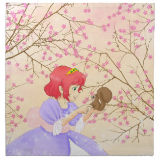 Guardanapo de cabelo vermelho da flor da princesa
