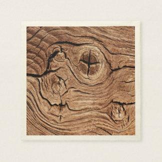 Guardanapo de madeira do nó