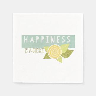 Guardanapo De Papel A felicidade é uma escolha