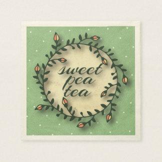 Guardanapo De Papel Aniversário do chá da ervilha doce - bolinhas