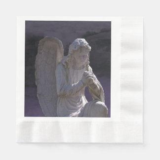 Guardanapo De Papel Anjo cristão calmo Praying de pedra