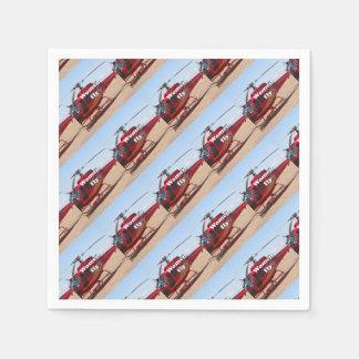Guardanapo De Papel As mulheres voam: helicóptero vermelho