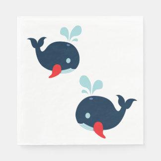 Guardanapo De Papel Baleias vermelhas do marinho náutico que Wedding a