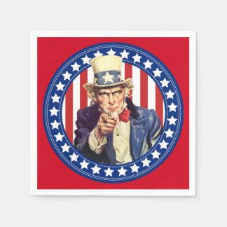Guardanapo De Papel Bandeira dos Estados Unidos do tio Sam
