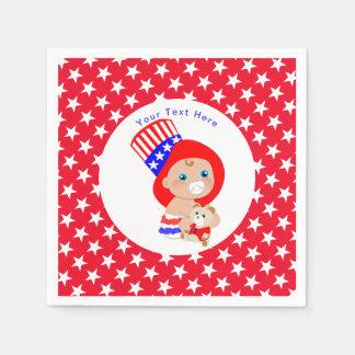 Guardanapo De Papel Bebê americano do tio Sam patriótico personalizado