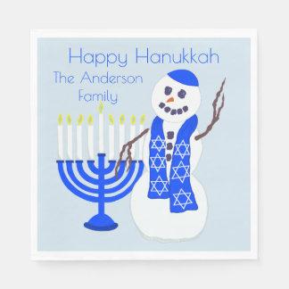 Guardanapo De Papel Boneco de neve de Hanukkah ou partido de
