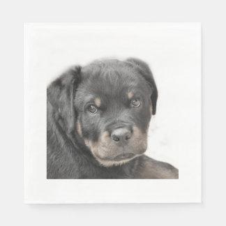 Guardanapo De Papel Cão de Rottweiler