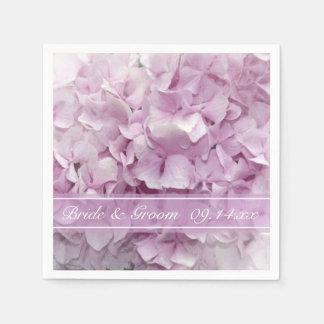Guardanapo De Papel Casamento cor-de-rosa macio do Hydrangea