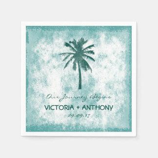 Guardanapo De Papel Casamento de praia tropical da palmeira