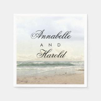 Guardanapo De Papel Casamento romântico do cenário da praia