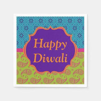 Guardanapo De Papel Celebração indiana colorida de Diwali do design do