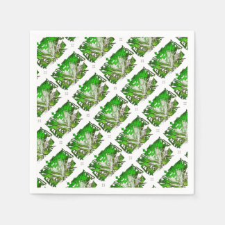Guardanapo De Papel city em 3 point version perspective special green