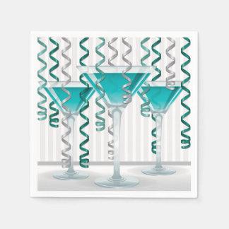 Guardanapo De Papel Cocktail e fita do Aqua
