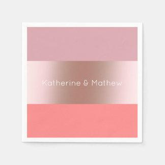 Guardanapo De Papel Coral cor-de-rosa do rosa do ouro do pintinho