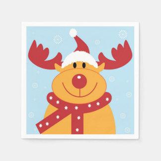 Guardanapo de papel da rena do Natal
