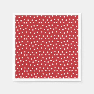 Guardanapo de papel das bolinhas vermelhas do