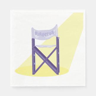 Guardanapo de papel de diretores de filme cadeira