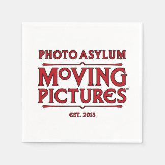 Guardanapo de papel de imagens moventes do asilo